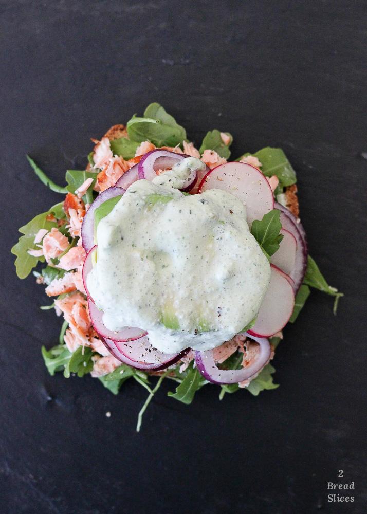 Sandwich salmón