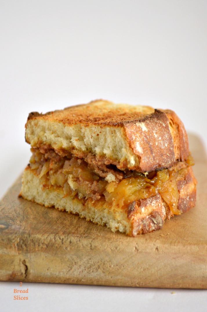 Sandwich de Manzana Caramelizada y Foie