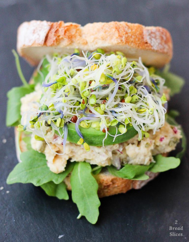 sandwich garbanzo brotes