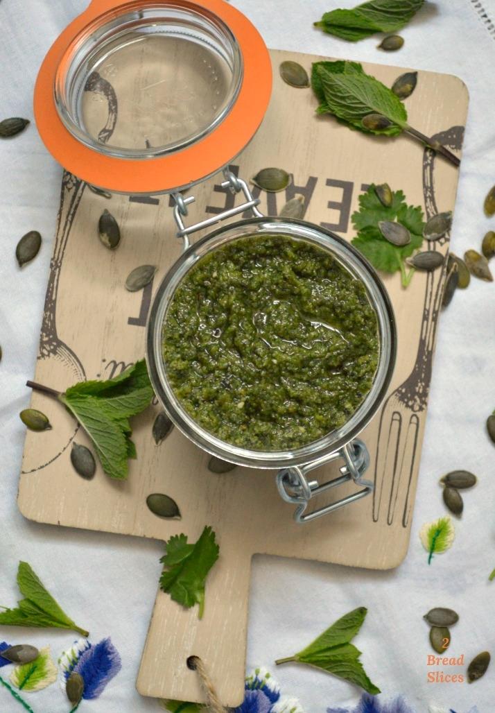 Pesto de Calabaza y Menta