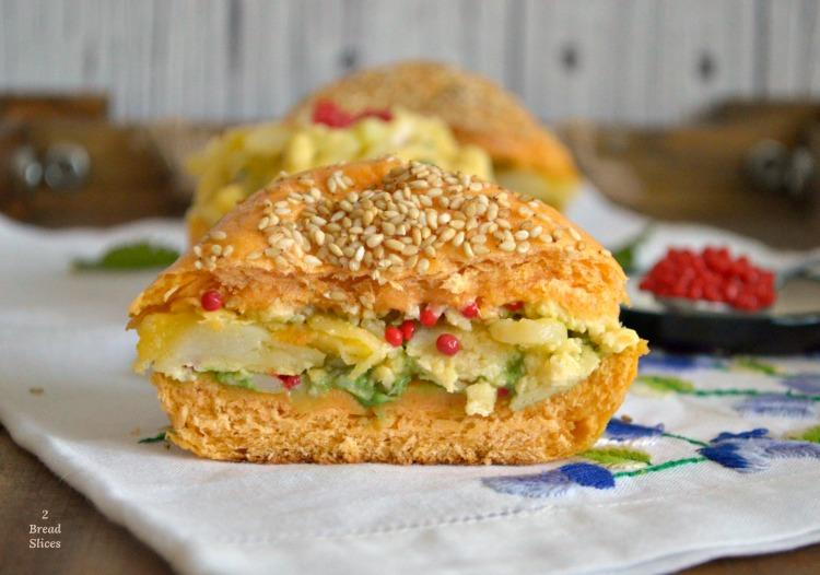 Sandwich de Huevos Revueltos