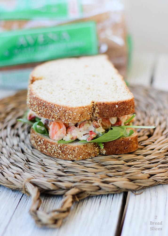 Sandwich de lentejas y garbanzos