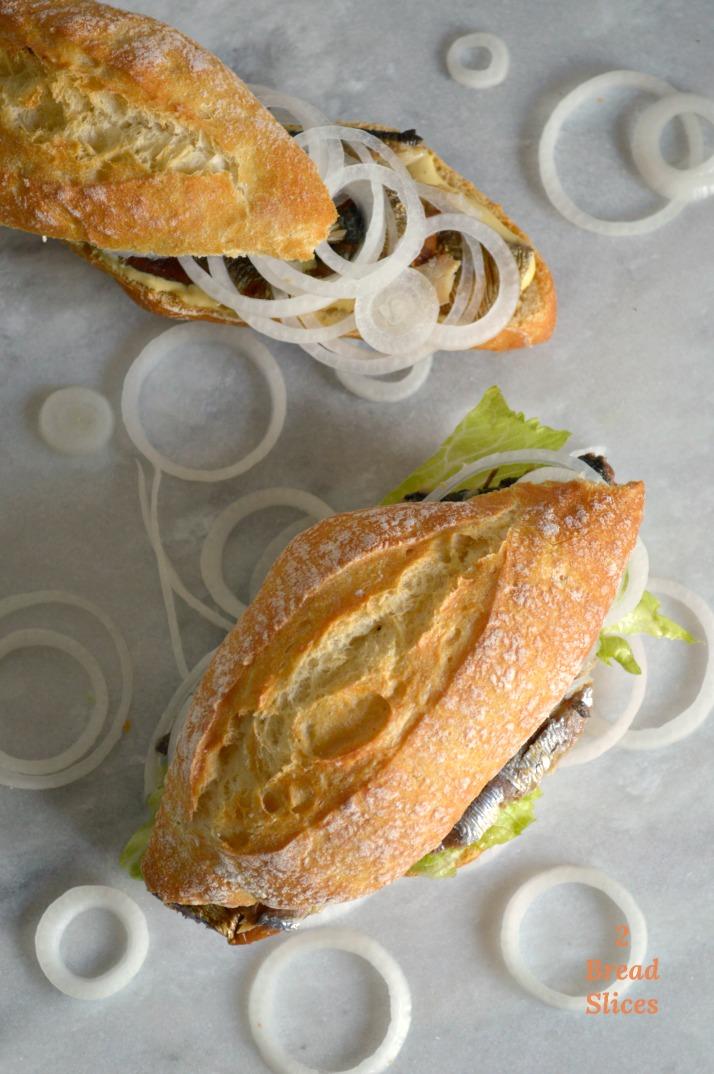 Fischbrötchen Sandwich