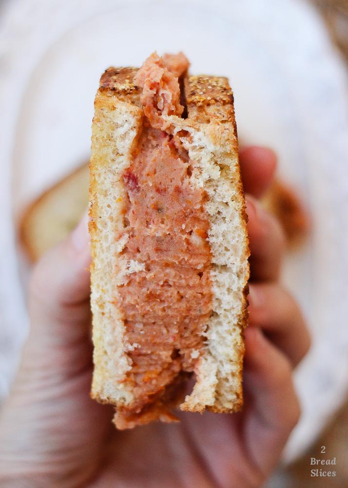 sandwich judias tomate albahaca