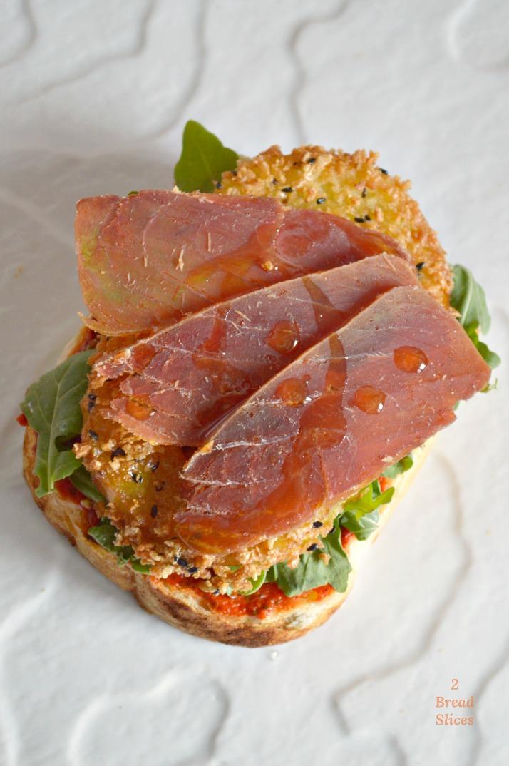 Sandwich de Manzana Frita y Mojama de Atún