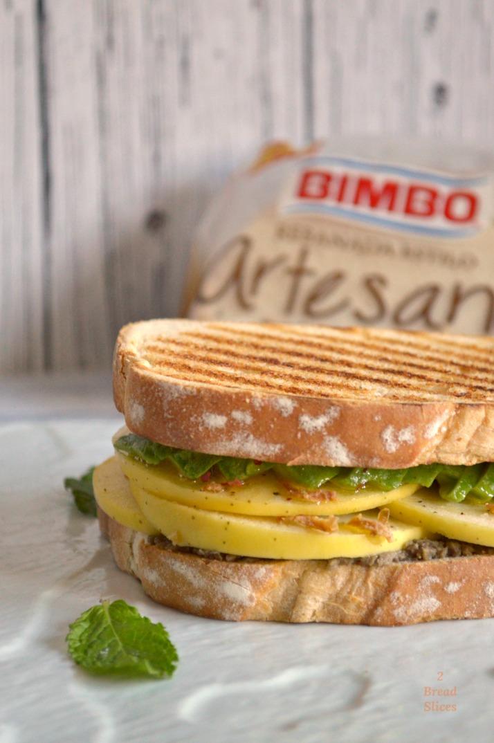 Sandwich de Manzana y Aguacate