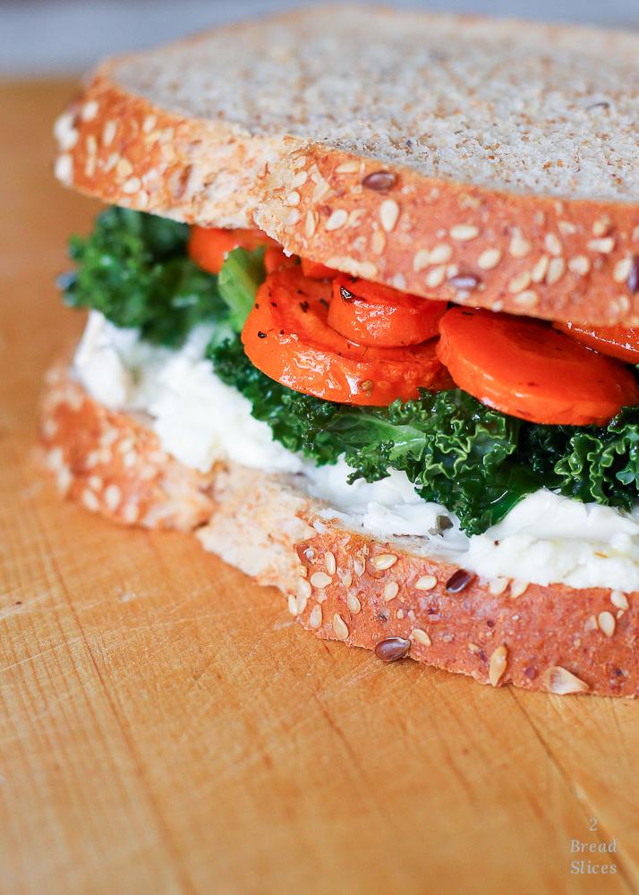 Kale y zanahoria glaseada