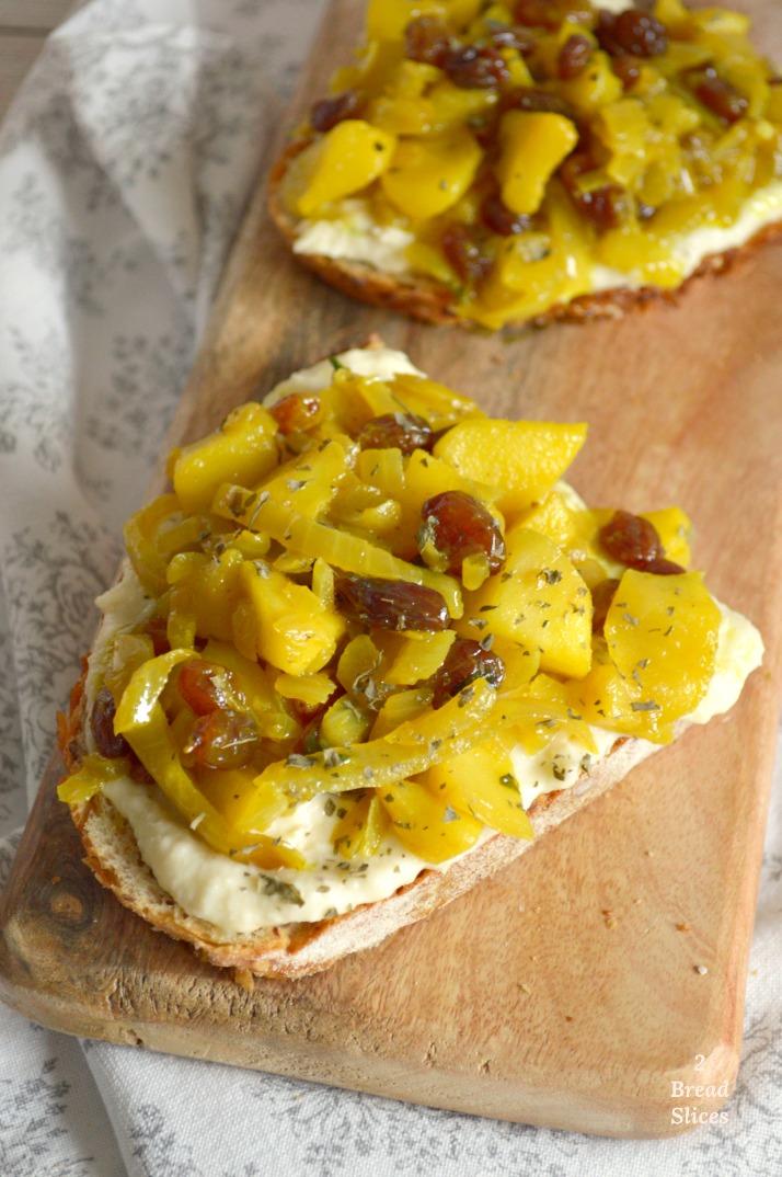 Sandwich (open) de Bacalao y Manzana