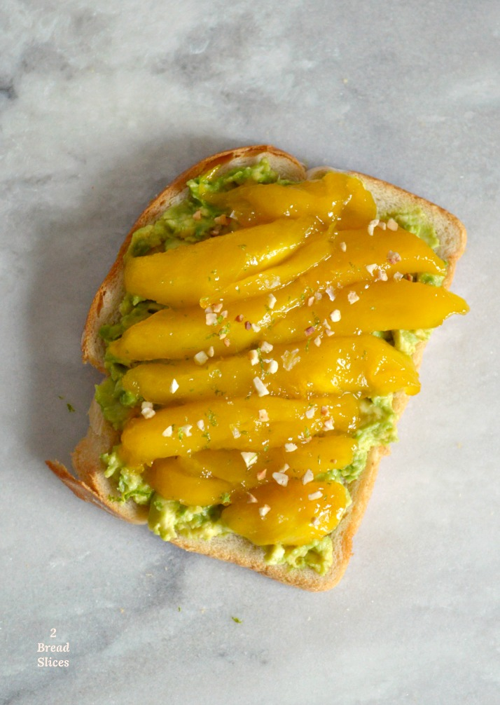 Sandwich de Aguacate y Mango Caramelizado
