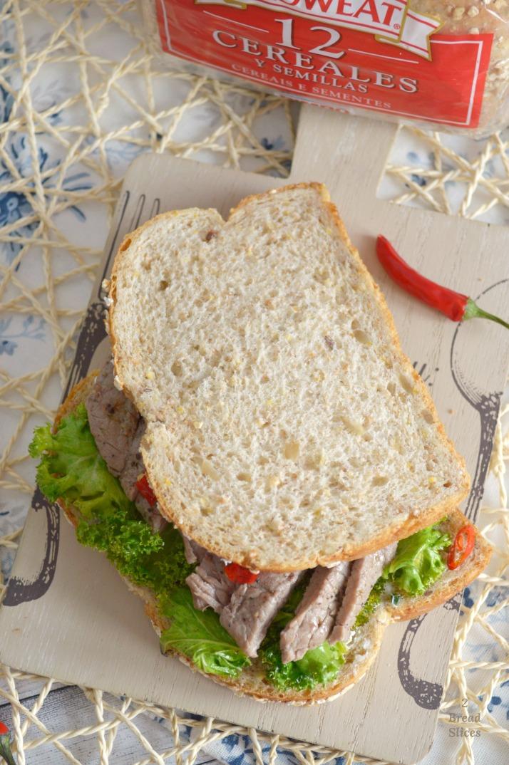 Sandwich de Ternera y Col Rizada