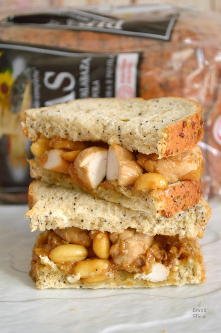 Sandwich de Pollo Kung Pao