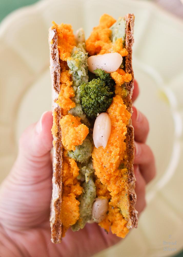 brocoli judias carrot dip