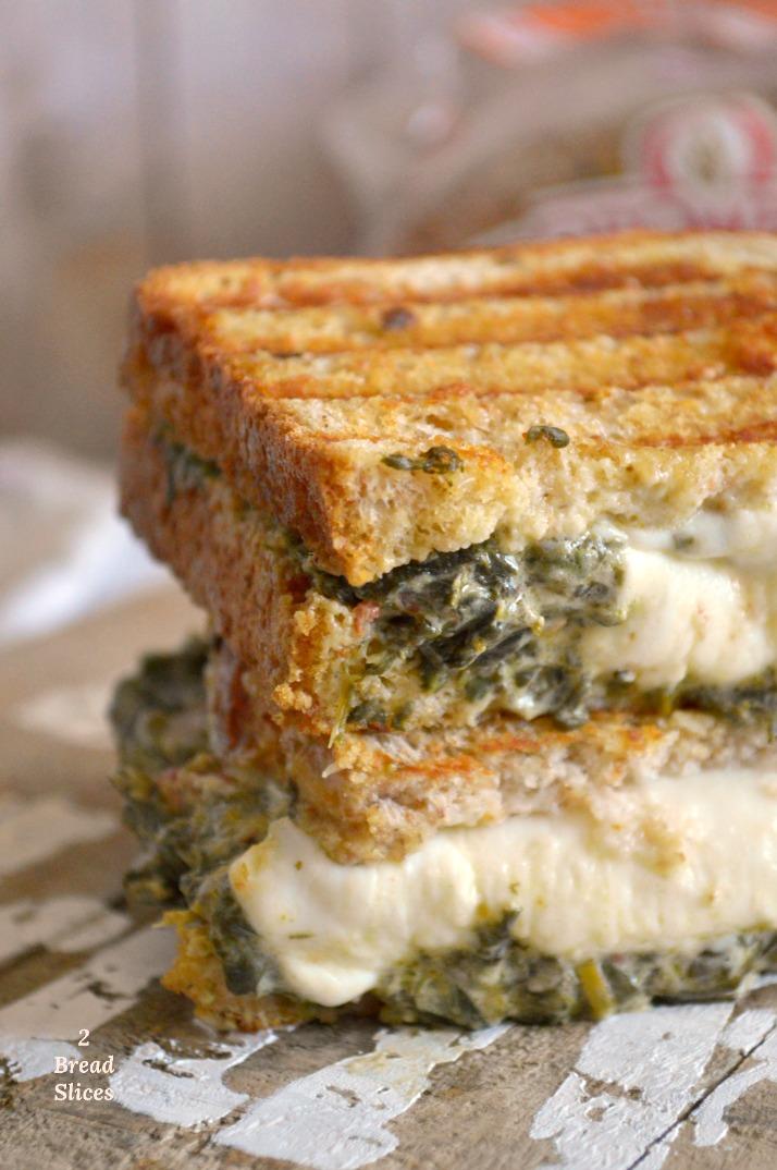 Sandwich de Espinacas y Queso