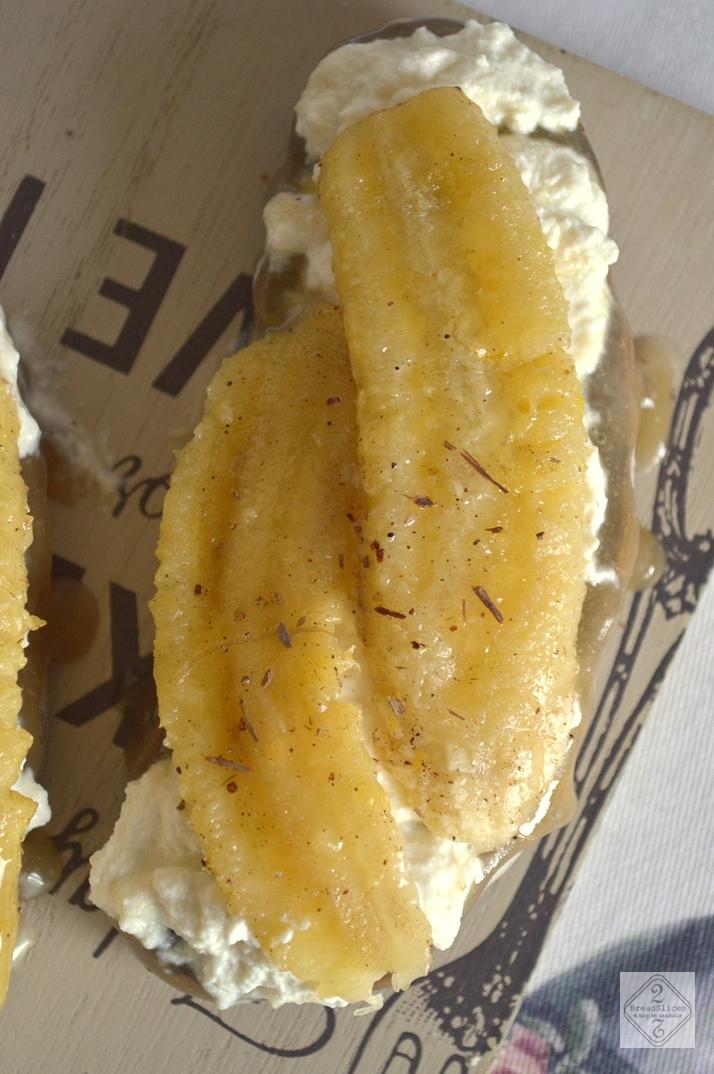 Sandwich de Ricotta y Plátano