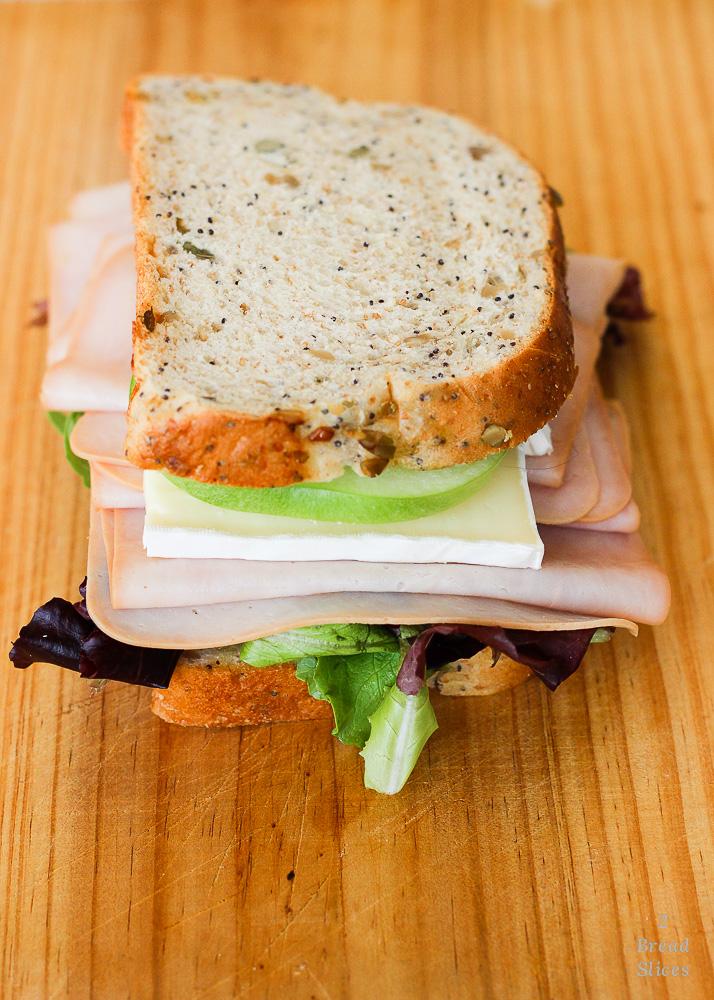 sandwich de pavo brie y manzana
