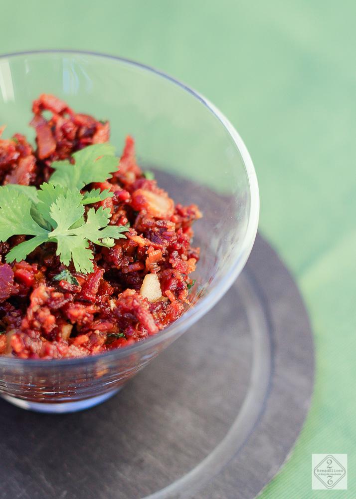 Salsa de bacon y cilantro