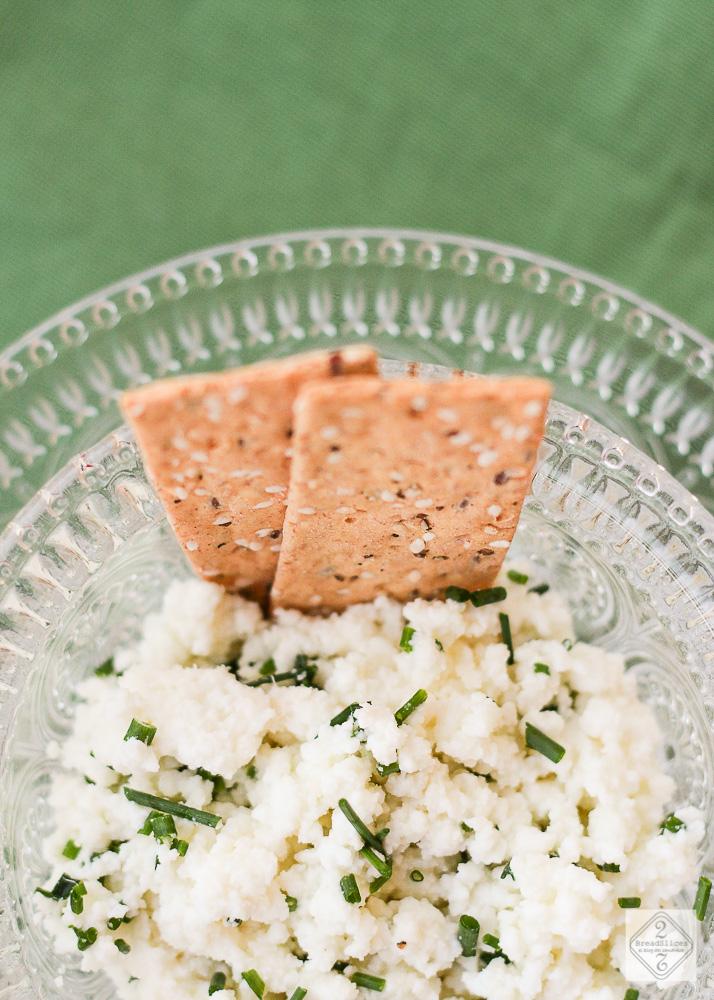 Dip de requesón parmesano y cebollino