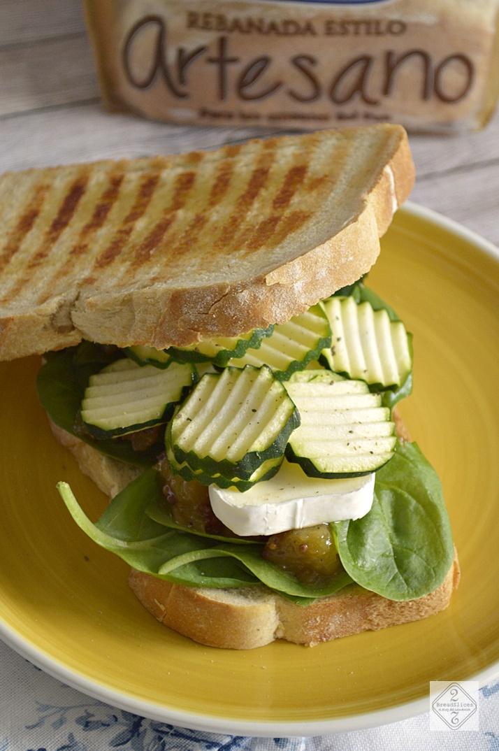 Sandwich de Calabacín y Chutney de Piña