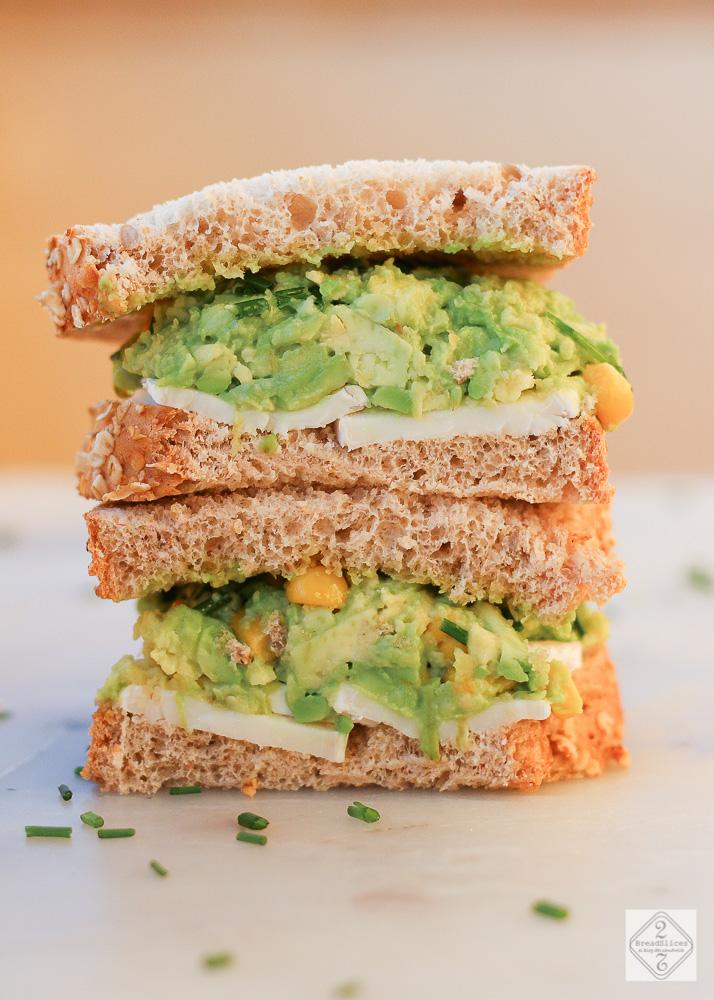Sandwich de aguacate ma z y queso de cabra 2 bread slices - Queso de cabra y colesterol ...