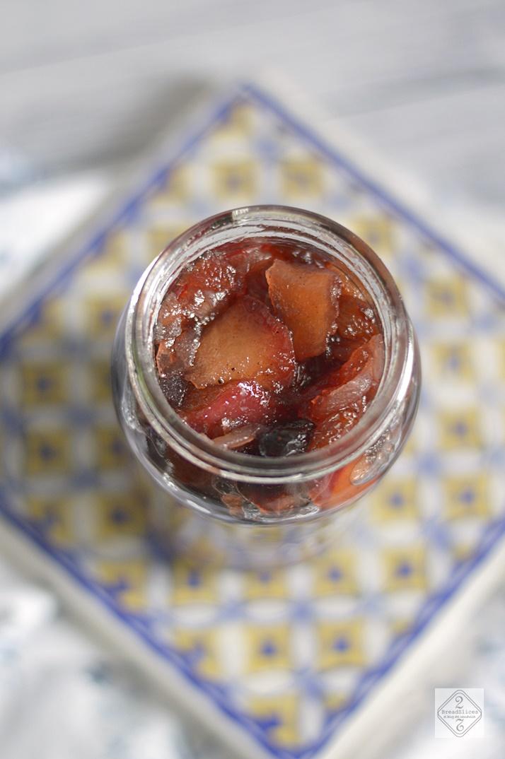 Chutney de Manzana y Arándanos
