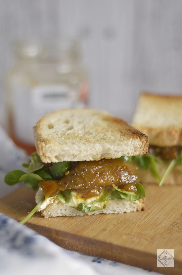 Sandwich de Mango, Naranja y Mascarpone