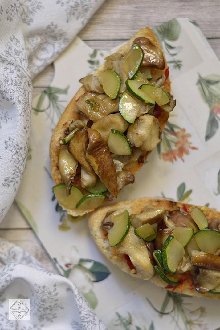 Sandwich de Setas con Ajo y Jengibre