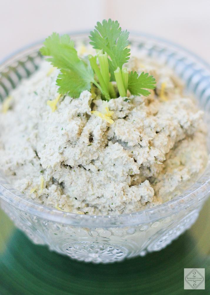 Untable de pipas, limón y cilantro