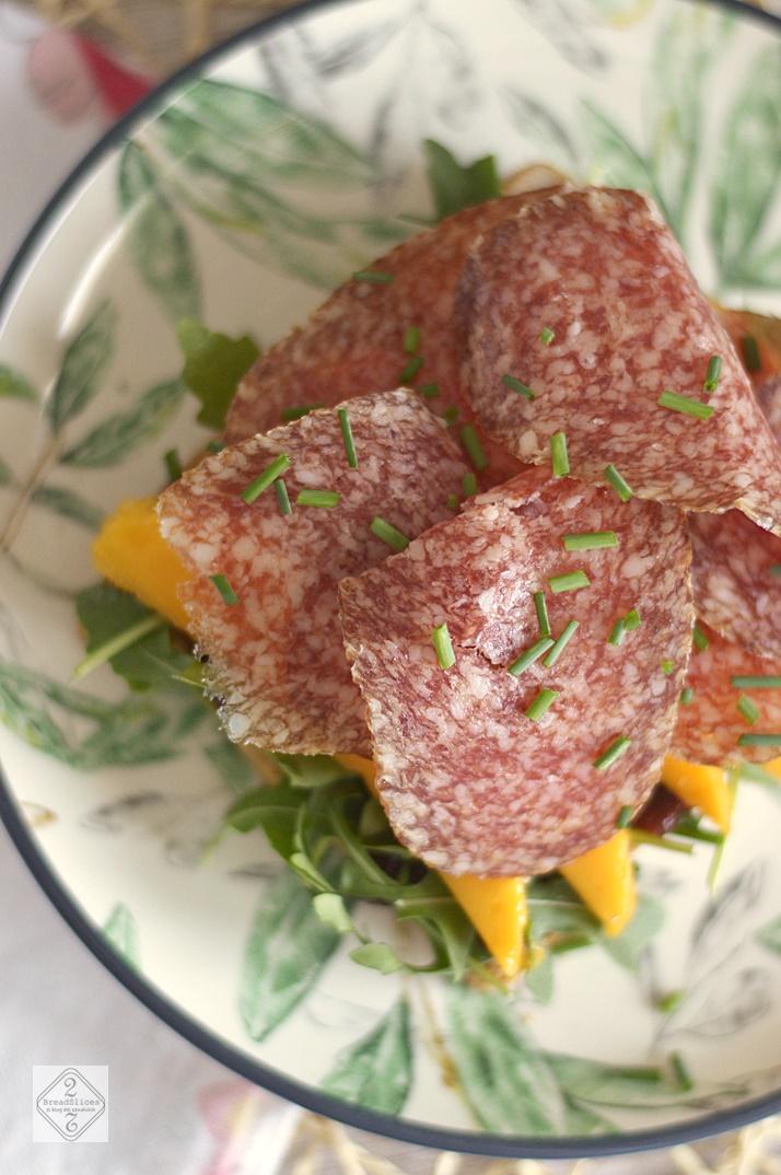 Sandwich de Salami y Mango