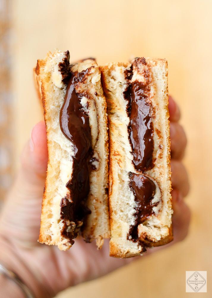 Sandwich de mantequilla de cacahuete y chocolate