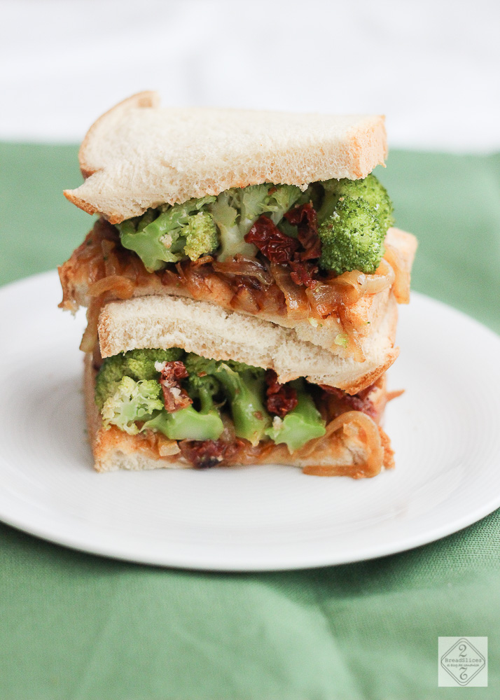 Sandwich de brócoli picante