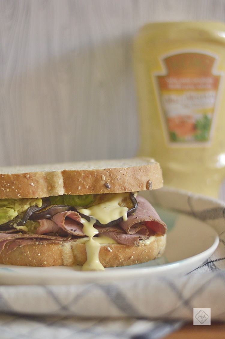 Sandwich de Pastrami y Berenjena | 2 BREAD SLICES